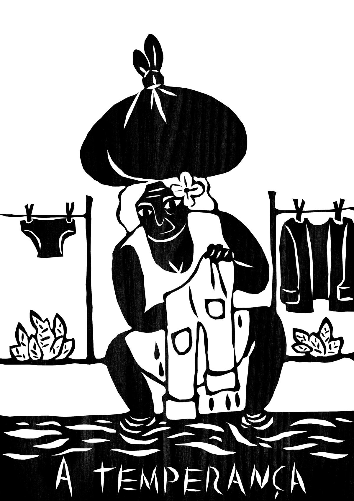 Ilustrador faz releitura de cartas de Tarô com temática nordestina
