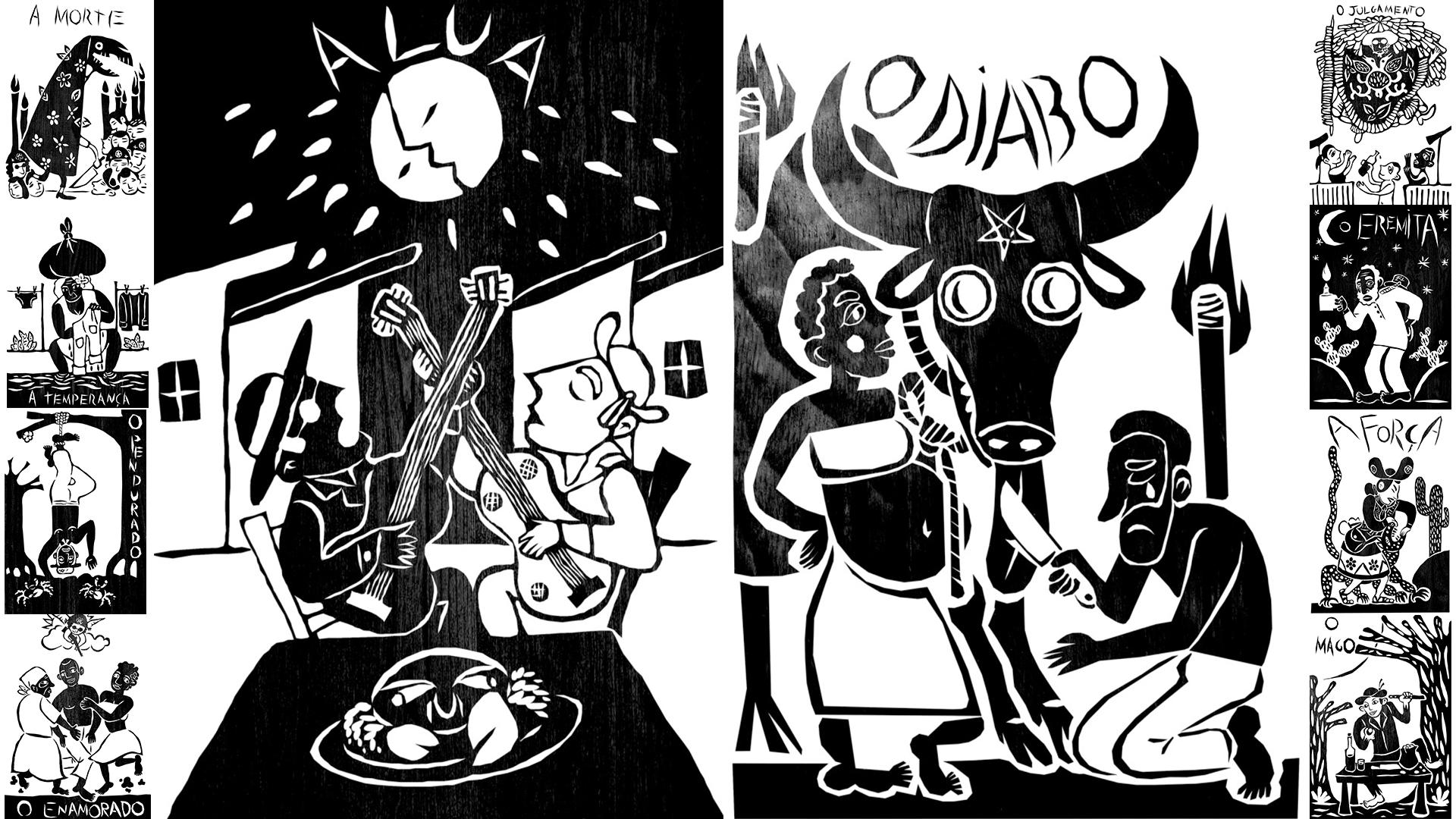 Ilustrador faz releitura do Tarô com temática nordestina